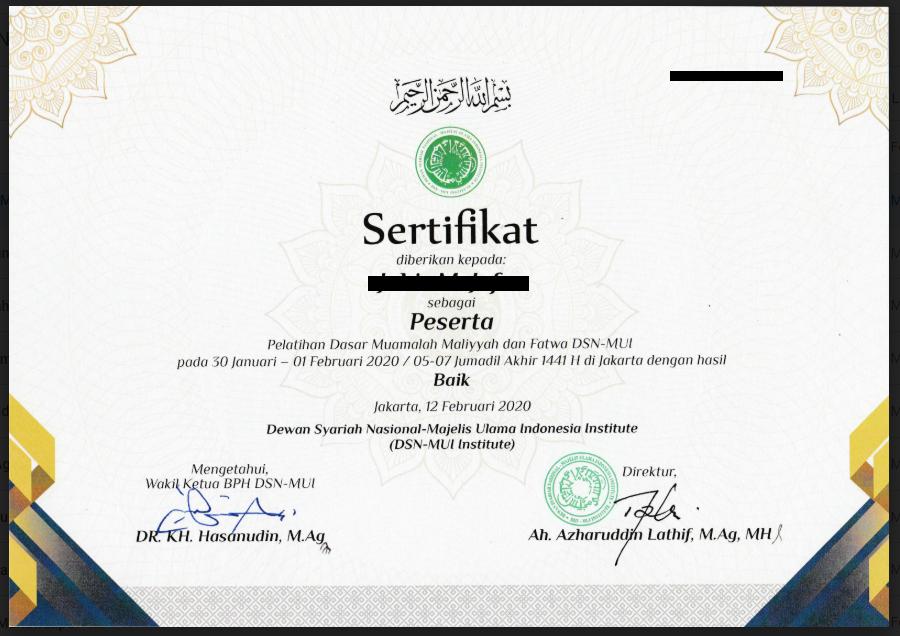 sertifikat DPS
