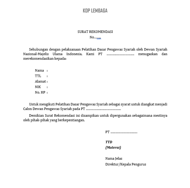 lembar konfirmasi pelatihan DPS