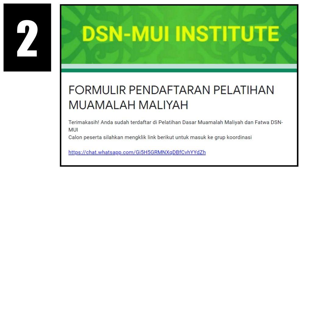 Daftar Pelatihan Dasar Muamalah Maliyah DSN-MUI Institute