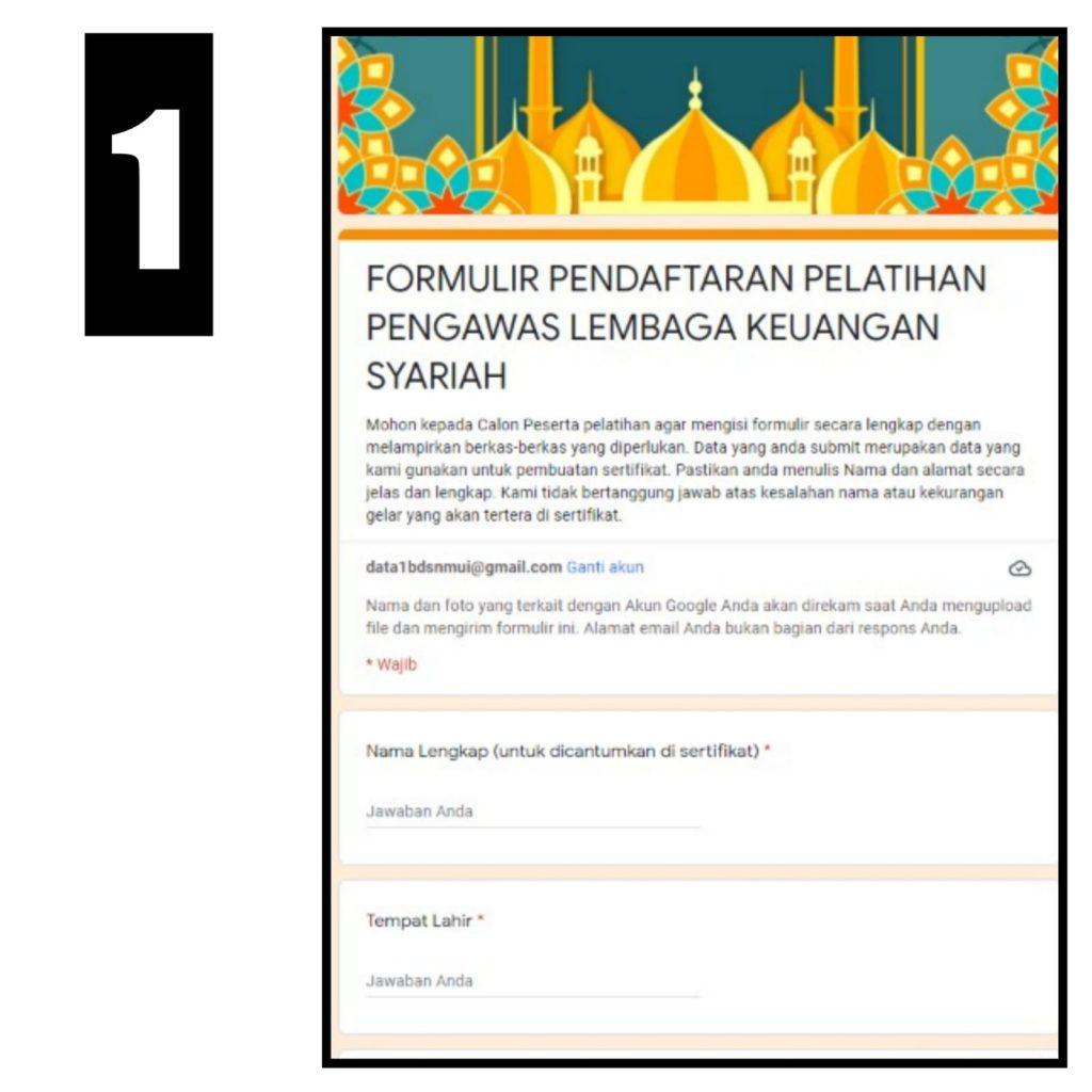 formulir pendaftaran PDPS DSN-MUI Institute